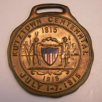 Kutztown 1915 Centennial Fob - Pocket Watches