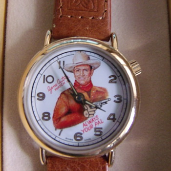 "Authorized Repoduction Gene Autry ""Animated"" Wrist Watch- NOS"