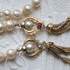 """Estate quality Baroque 15.5"""" knotted pearls with 14k Pendant Clasp and Tassels"""