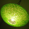 50's Flying Saucer Spaghetti Light/Lamp LIME GREEN