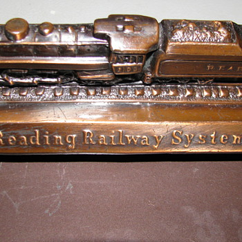 Vintage Reading Railway System Note Pad/Calender Holder - Office