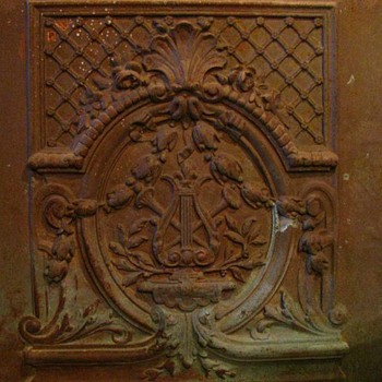 Cast Iron Summer Front for a late 1800s fireplace