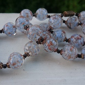Vintage venetian sommerso necklace