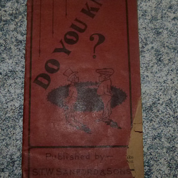 Do You Know? A little book of facts circa 1902 - Advertising