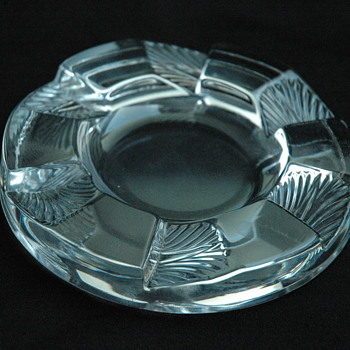 Rene Lalique Cuba Ashtray - Art Glass