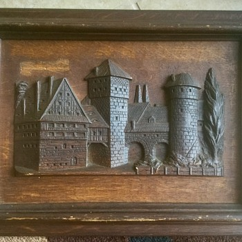 Carved wood picture in frame...HELP! - Visual Art