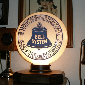 The Pacifice Telephone & Telegraph Glass Globe