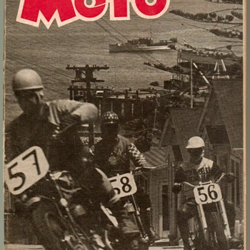 "1952 - ""MOTO"" Motorcycle Magazine (First Issue) - Paper"