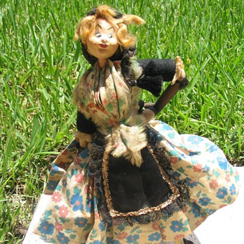 European 'character' dolls: gypsy, matador, flamingo dancer, bagpipe player