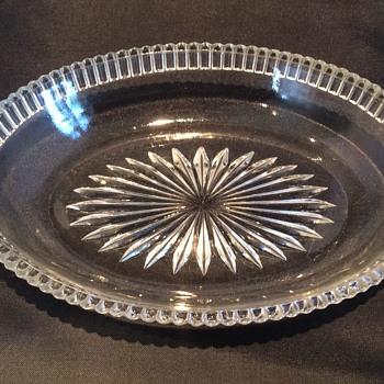 "Vintage 8 1/2"" x 1 3/4"" bowl  - Glassware"
