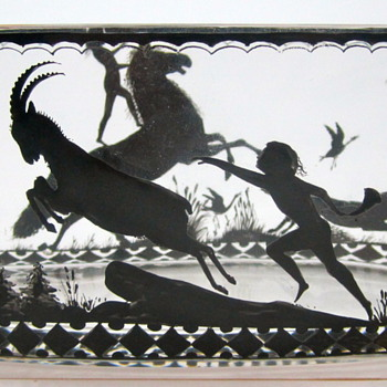 "Diefenbach Style Bowl, ca. 1915 - decorated ""in the silhouette manner"""