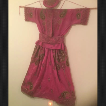 Need help - silk, heavily embroidered, old, I think dancing costume? Balinese?