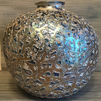 Large Durand Moorish Crackle Vase