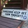 C&amp;NW Railroad sign