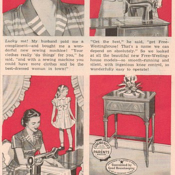1950 Free-Westinghouse Sewing Machine Advertisements