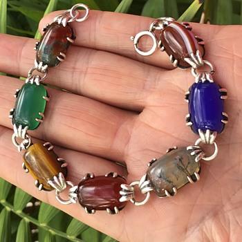 Silver Mixed Stone Bracelet - Fine Jewelry