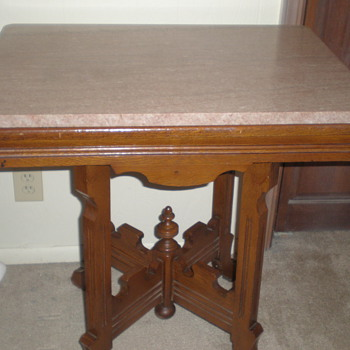 Antique Marble Topped Table - Furniture