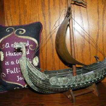 VIKING SHIP ART, I Went Back To The Sale--It was still there! - Visual Art