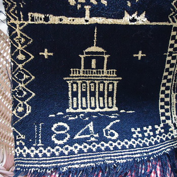 1846 IOWA COVERLET - Rugs and Textiles