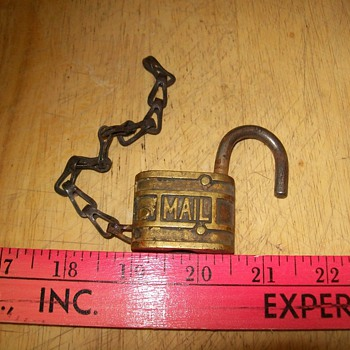 Brass key lock