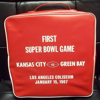 First Superbowl seat cushion - Football