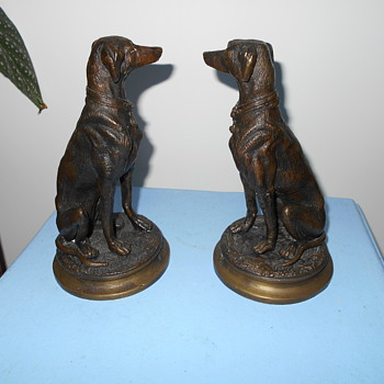 bronze arabian dogs
