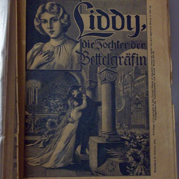 German Folk Literature 1905 Liddy die Tochter der Bettelgrafin - Paper