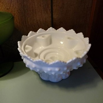 Milk Glass Hobnail candle holder