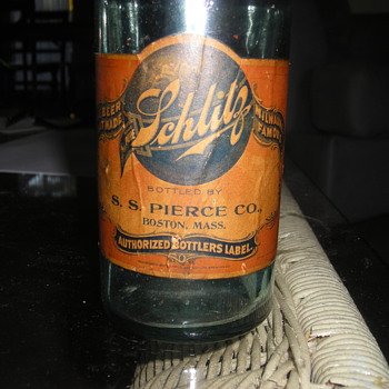 1908 SCHLITZ led by S.S. Pierce - Boston,ma - Bottles