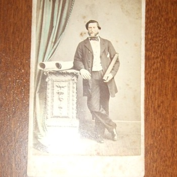 CDV of ships captain from the UK - Photographs