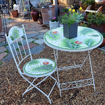 Tile Garden Table and Chair