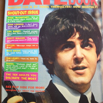 September 1966 Datebook Magazine Beatles Cover