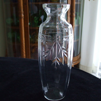 ART DECO Crystal Vase From LES CRISTALLERIES DE NANCY-1920's