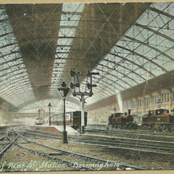 1910-birmingham-new st station-old postcard. - Postcards
