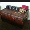 Old Bentwood Steamer Trunk