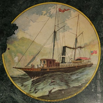 "'Copied from a painting of Dr. G. G. Green's steam yacht ""G.G. Green Jr."""