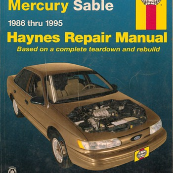 Haynes Repair Manual - Ford Taurus & Mercury Sable - Classic Cars