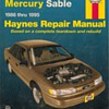 Haynes Repair Manual - Ford Taurus &amp; Mercury Sable
