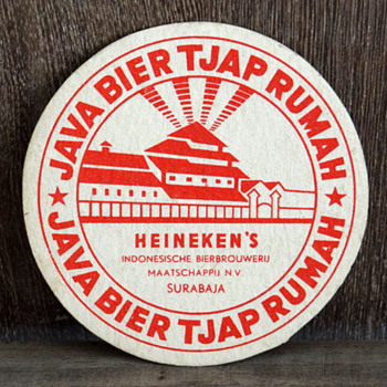 JAVA BIER Tjap RUMAH beer coaster