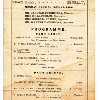 Concert in our town 1868 - Music