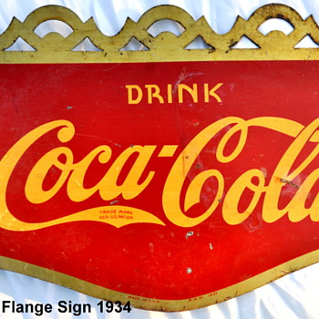 1934 Coca-Cola Flange Sign - Coca-Cola