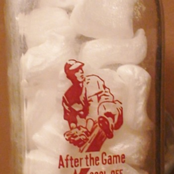 Baseball Player Milk Bottle