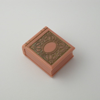 salmon pink book ring box