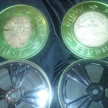 Pathe Freres film tins/reels (2)