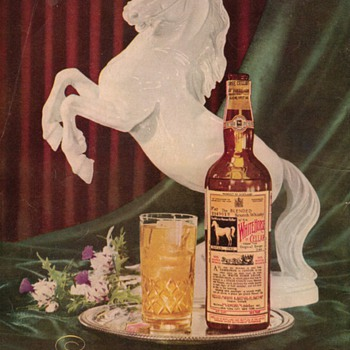 1953 White Horse Scotch Advertisement - Advertising