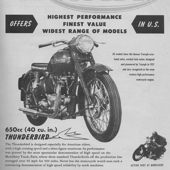1950 - Triumph Motorcycles Advertisements