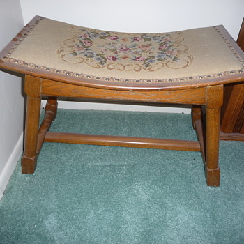 """Dusty Acorn"" Old Hickory Footstool - Furniture"
