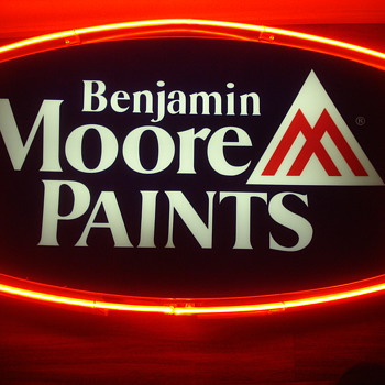 Benjamin Moore Neon Sign. - Signs