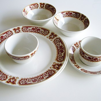 What pattern is this English Duraline Hotel Ware by Grindley? - China and Dinnerware