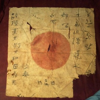 WW2 Japanese flag brought home by my gtandfather.  NEED HELP UNDERSTANDING IT! - Military and Wartime